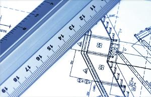 Ruler with blueprint